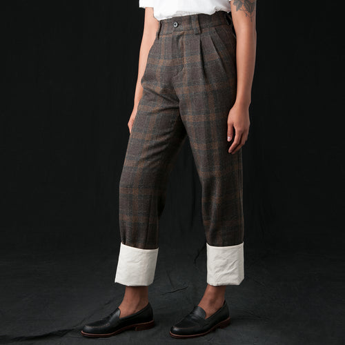 Ginger Pant in Brown Check