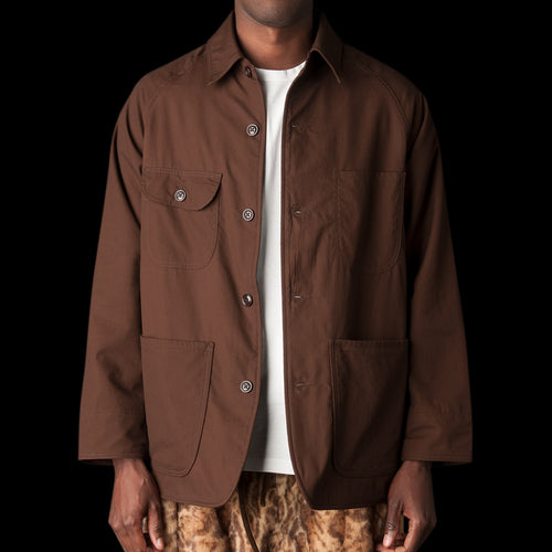 Farmer's Jacket with Wool Lining in Vancloth Oxford Brown