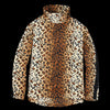 Monitaly - Kog Risu Fleece Mock Neck Pullover in Leopard