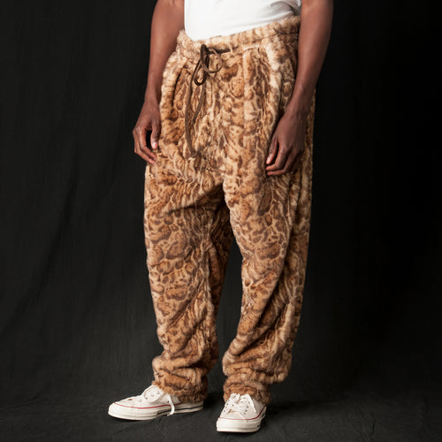 Drop Crotch Pants in Kodiac Fur Jungle Cat