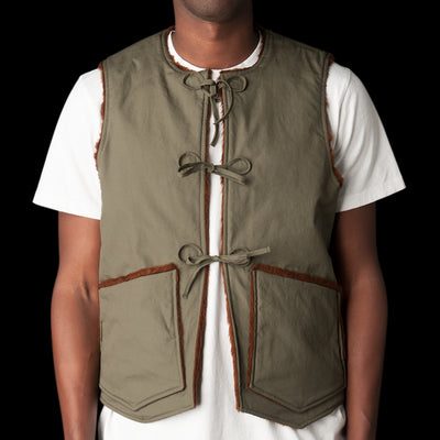 Monitaly - Cincho Vest in Vancloth Oxford Olive