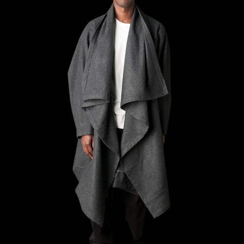 Voguar Coat Type-8 in Wool Flannel Charcoal