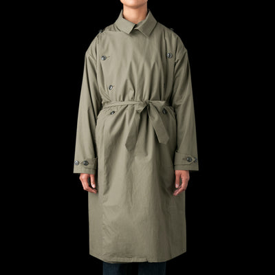 Monitaly - French Army Trench Coat in Vancloth Oxford Olive