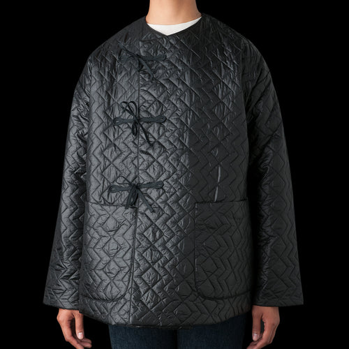 Crewneck Field Shell Jacket in Zigzag Dotera Fill 3oz Black