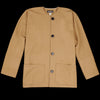Monitaly - Peasant Jacket in Wool Flannel Camel