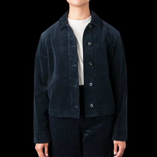 Heavy Corduroy Work Shirt Blazer in Midnight