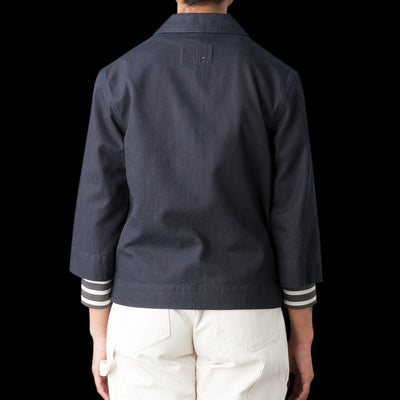 MHL / Margaret Howell - Twill Elbow Sleeve Jacket in Indigo