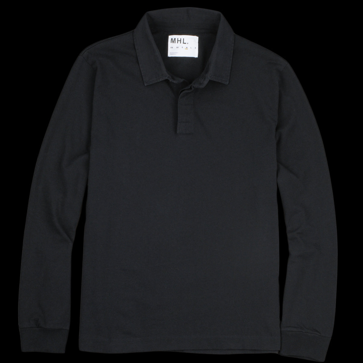Mhl Margaret Howell Matte Jersey Rugby Shirt In Midnight Unionmade