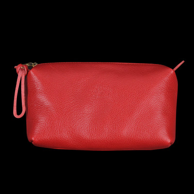 Il Bisonte - Liberty Beauty Case in Rosso with Ade Lining