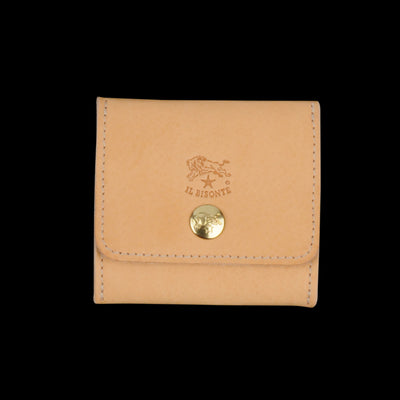 Il Bisonte - Liberty Coin Purse in Naturale with Ade Lining