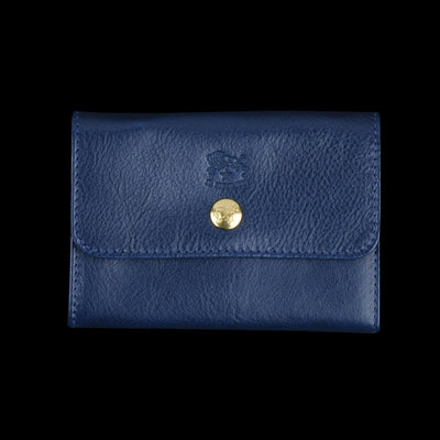 Il Bisonte - Liberty Snap Wallet in Blu with Ade Lining