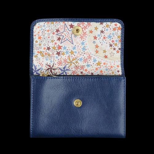 Liberty Snap Wallet in Blu with Ade Lining