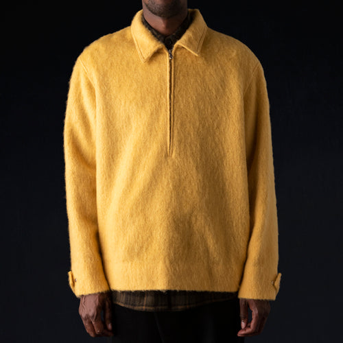 Brushed Wool Pullover in Yellow