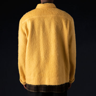 Deveaux - Brushed Wool Pullover in Yellow