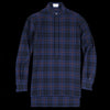 Deveaux - Plaid Gauze Tunic Shirt in Blue