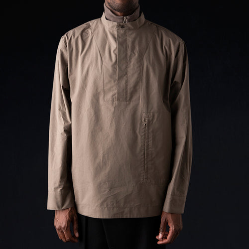 Poplin Double Collar Shirt in Olive