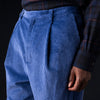 Deveaux - Corduroy Wyatt Pant in Blue