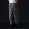 Deveaux - Wool Melton Asymmetrical Pant in Grey