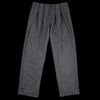 Deveaux - Wool Herringbone Tommy Pant in Grey