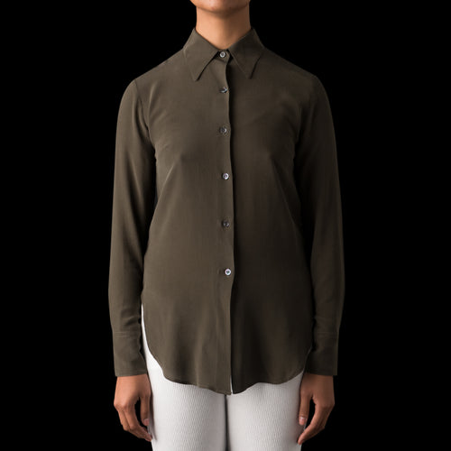 Cordelia Crepe Shirt in Army