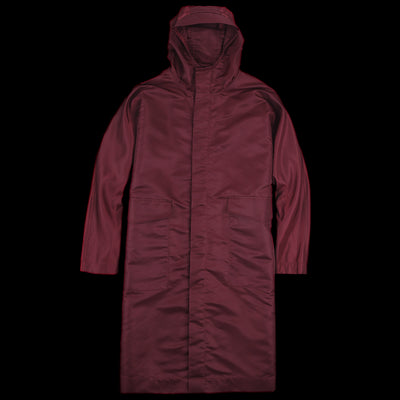 Grei. - Aviator Nylon Hooded Dolman Parka in Burgundy