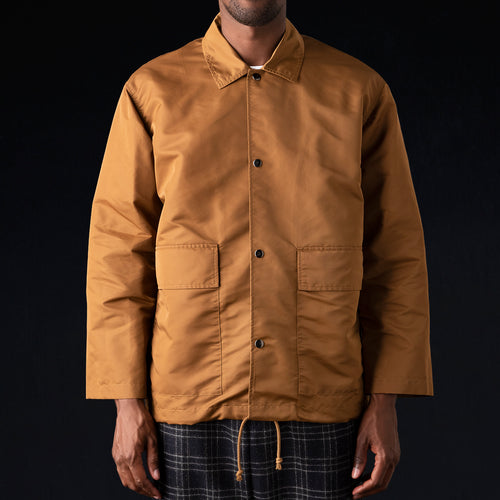 Aviator Nylon Coach Jacket in Amber