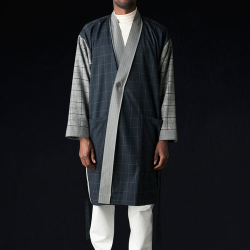 Suiting Panel Robe in Patchwork