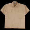 Grei. - Canvas 4 Pocket Shirt Poncho in Khaki