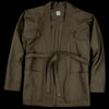 Grei. - Canvas Karate Jacket in Army Green