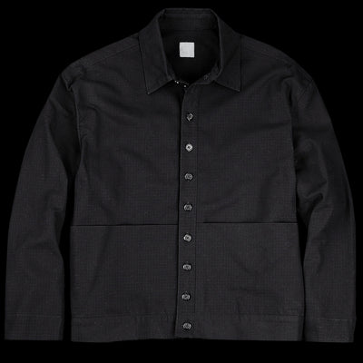 Grei. - Ripstop Cropped Shorty Shirt Jacket in Black