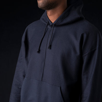 Grei. - Ultra Fine Terry The Big Hoodie in Midnight Blue