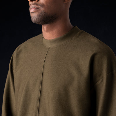 Grei. - Ultra Fine Terry The Big Sweatshirt in Army Green