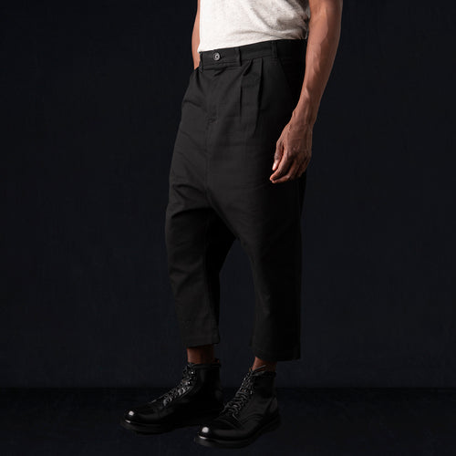 "Ripstop Drop Crop ""Herman"" Pant in Black"