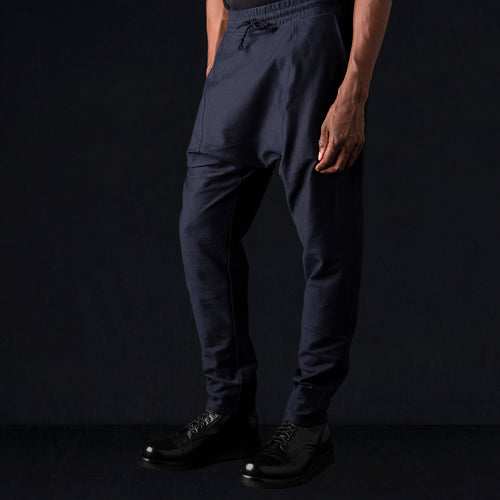 Ultra Fine Terry Drop Rise Sweat Pant in Midnight Blue