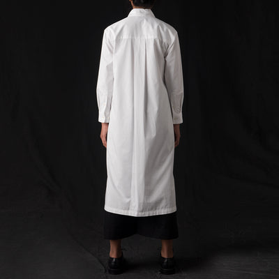 Grei. - Fine Twill Two Pocket Shirt Dress in White