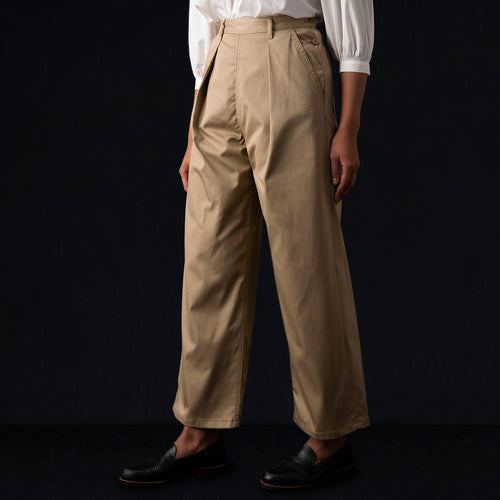 Chino Wide Pant in Beige