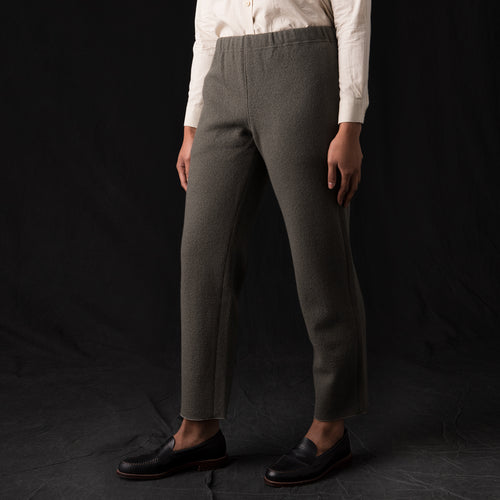 Press Wool Straight Pant in Otter Grey