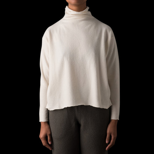 Press Wool Turtle Neck Pullover in Off White