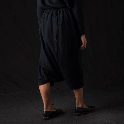Evam Eva - Press Wool Sarrouel Pant in North Sea