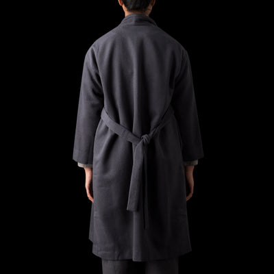 Evam Eva - Angora Wool Robe Coat in Blue Grey