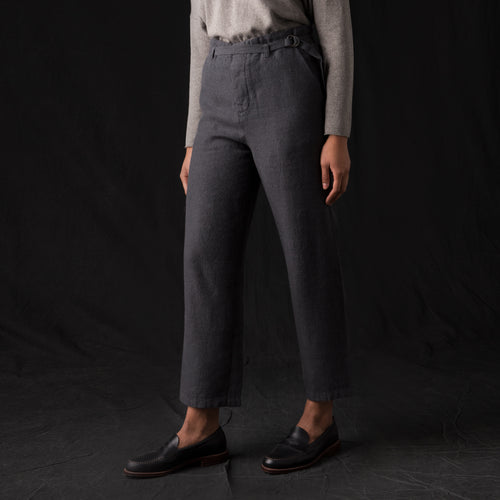 Straight Pant in Blue Grey