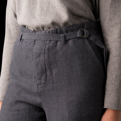 Evam Eva - Straight Pant in Blue Grey