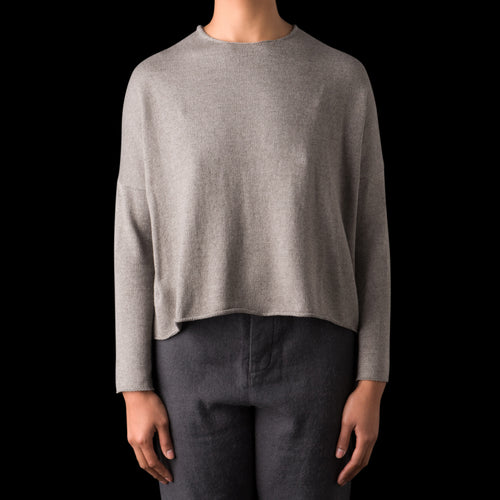 Yak Cotton Pullover in Grey