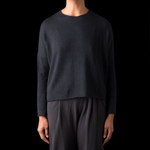 Yak Cotton Pullover in Sumi