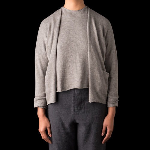 Yak Cotton Cardigan in Grey