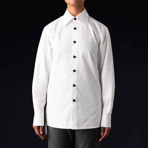 Poplin Overshirt in White