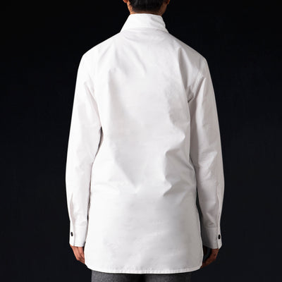 Deveaux - Poplin Overshirt in White