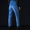 Deveaux - Wide Corduroy Wyatt Pant in Blue