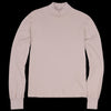 Save Khaki - Long Sleeve Heavy Supima Mock Neck Tee in Tea