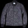Save Khaki - Quilted Nylon Warm Up Bomber in Black